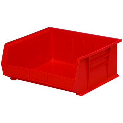 "14-3/4"" L x 16-1/2"" W x 7"" Hgt. OD Red Storage Bin"