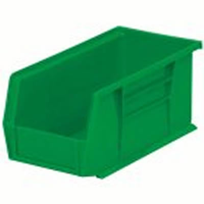 "10-7/8"" L x 5-1/2"" W x 5"" Hgt. OD Green Storage Bin"