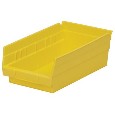"11-5/8"" L x 6-5/8"" W x 4"" H Yellow Akro-Mils® Shelf Bin"