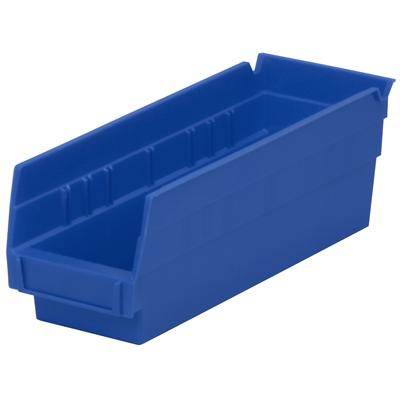 """11-5/8"""" L x 4-1/8"""" W x 4"""" H Blue Akro-Mils® Shelf Bin"""