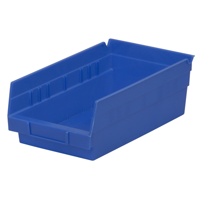 "11-5/8"" L x 6-5/8""W x 4""H Blue Akro-Mils® Shelf Bin"