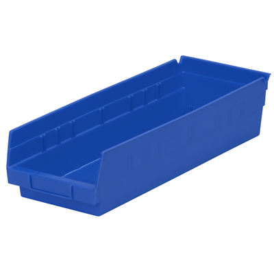 "17-7/8"" L x 6-5/8"" W x 4"" H Blue Akro-Mils® Shelf Bin"
