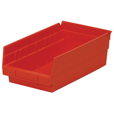 "Red Akro-Mils® Shelf Bin - 11-5/8"" L x 6-5/8"" W x 4"" Hgt."