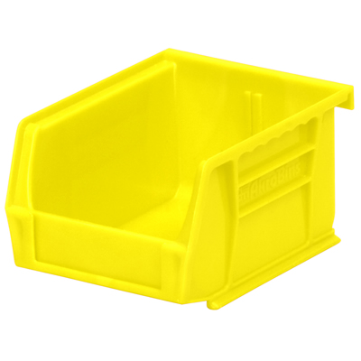 "5-3/8"" L x 4-1/8"" W x 3"" Hgt. OD Yellow Storage Bin"