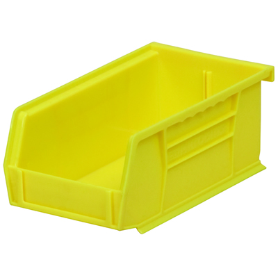 "7-3/8""L x 4-1/8""W x 3""H OD Yellow Storage Bin"