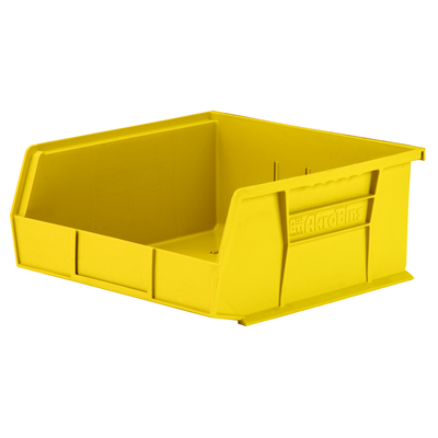 "10-7/8""L x 11""W x 5""H OD Yellow Storage Bin"
