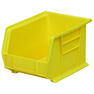 "10-3/4"" L x 8-1/4"" W x 7"" Hgt. OD Yellow Storage Bin"