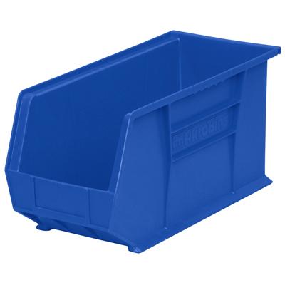 "18"" L x 8-1/4"" W x 9"" Hgt. OD Blue Storage Bin  *Not designed for hanging system."