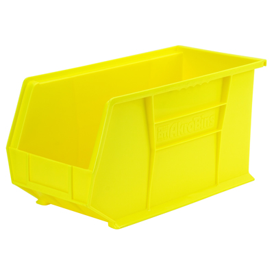 "18"" L x 8-1/4"" W x 9"" Hgt. OD Yellow Storage Bin  * Not designed for hanging system."