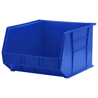 "18""L x 16-1/2""W x 11""H OD Blue Storage Bin  *Not designed for hanging systems."
