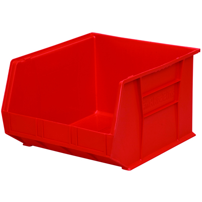 "18""L x 16-1/2""W x 11""H OD Red Storage Bin  *Not designed for hanging systems."
