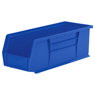 "14-3/4""L x 5-1/2""W x 5""H OD Blue Storage Bin"