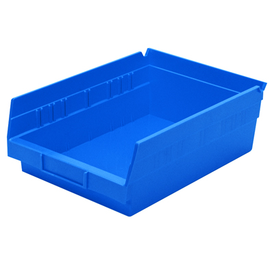 """Blue Akro-Mils® Shelf Bin - 11-5/8"""" L x 8-3/8"""" W x 4"""" Hgt."""