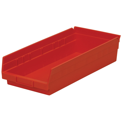 "17-7/8"" L x 8-3/8"" W x 4"" H Red Akro-Mils® Shelf Bin"