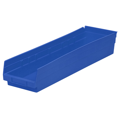 """23-5/8"""" L x 6-5/8""""W x 4""""H Blue Akro-Mils® Shelf Bin"""