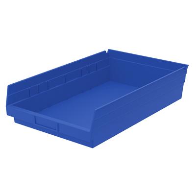 """Blue Akro-Mils® Shelf Bin - 17-7/8"""" L x 11-1/8"""" W x 4"""" Hgt."""