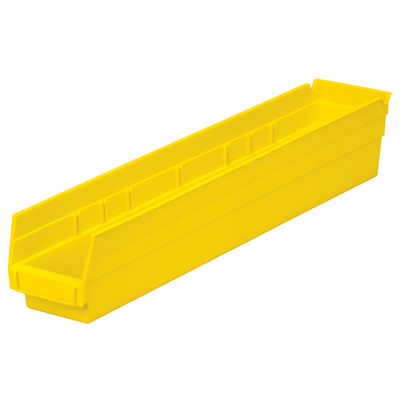 "23-5/8"" L x 4-1/8"" W x 4"" H Yellow Akro-Mils® Shelf Bin"