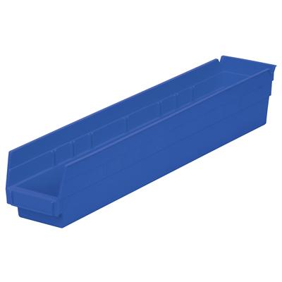 """23-5/8"""" L x 4-1/8""""W x 4""""H Blue Akro-Mils® Shelf Bin"""