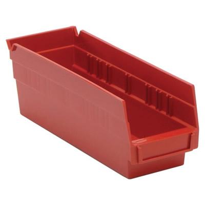 "Red Quantum® Economy Shelf Bin - 11-5/8"" L x 4-1/8"" W x 4"" Hgt."
