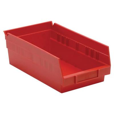 "Red Quantum® Economy Shelf Bin - 11-5/8"" L x 6-5/8"" W x 4"" Hgt."