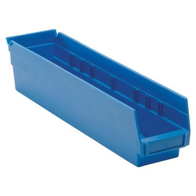 "Blue Quantum® Economy Shelf Bin - 17-7/8"" L x 4-1/8"" W x 4"" Hgt."