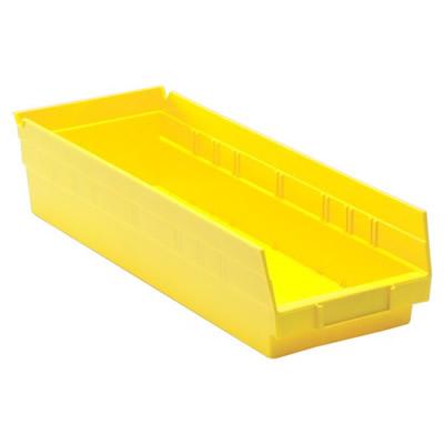 "Yellow Quantum® Economy Shelf Bin - 17-7/8"" L x 6-5/8"" W x 4"" Hgt."
