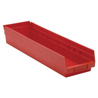 "Red Quantum® Economy Shelf Bin - 23-5/8"" L x 6-5/8"" W x 4"" Hgt."