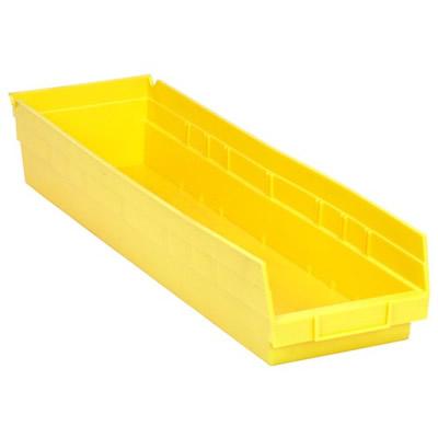 "Yellow Quantum® Economy Shelf Bin - 23-5/8"" L x 6-5/8"" W x 4"" Hgt."