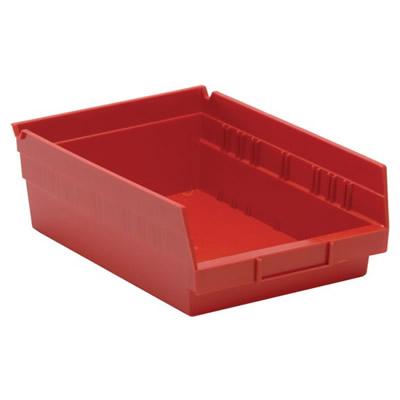 "Red Quantum® Economy Shelf Bin - 11-5/8"" L x 8-3/8"" W x 4"" Hgt."
