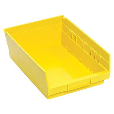 "Yellow Quantum® Economy Shelf Bin - 11-5/8"" L x 8-3/8"" W x 4"" Hgt."