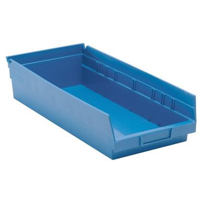 "Blue Quantum® Economy Shelf Bin - 17-7/8"" L x 8-3/8"" W x 4"" Hgt."