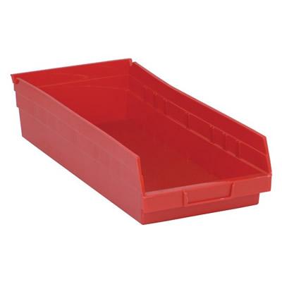 "Red Quantum® Economy Shelf Bin - 17-7/8"" L x 8-3/8"" W x 4"" Hgt."