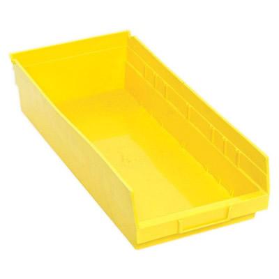 "Yellow Quantum® Economy Shelf Bin - 17-7/8"" L x 8-3/8"" W x 4"" Hgt."