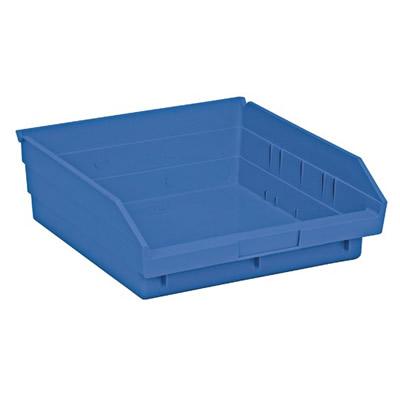 "Blue Quantum® Economy Shelf Bin - 11-5/8"" L x 11-1/8"" W x 4"" Hgt."