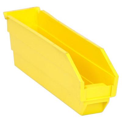 "Yellow Quantum® Economy Shelf Bin - 11-5/8"" L x 2-3/4"" W x 4"" Hgt."