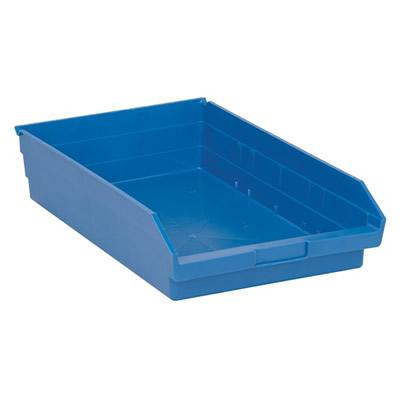"Blue Quantum® Economy Shelf Bin - 17-7/8"" L x 11-1/8"" W x 4"" Hgt."