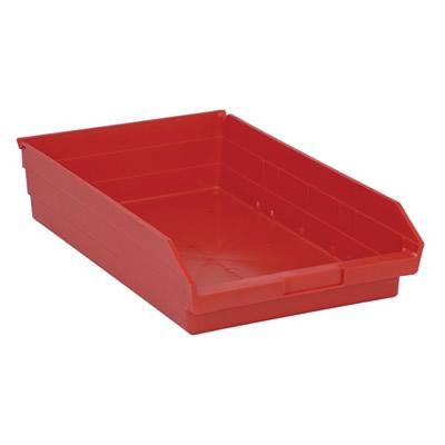 "Red Quantum® Economy Shelf Bin - 17-7/8"" L x 11-1/8"" W x 4"" Hgt."
