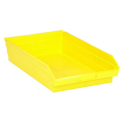 "Yellow Quantum® Economy Shelf Bin - 17-7/8"" L x 11-1/8"" W x 4"" Hgt."