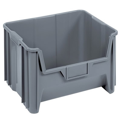 """15-1/4"""" L x 19-7/8"""" W x 12-7/8"""" Hgt. Gray Quantum® Giant Stack Container"""