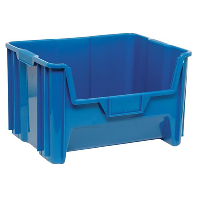 "15-1/4"" L x 19-7/8"" W x 12-7/8"" Hgt. Blue Quantum® Giant Stack Container"