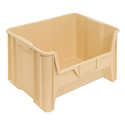 """15-1/4""""L x 19-7/8""""W x 12-7/8""""H Ivory Quantum® Giant Stack Container"""