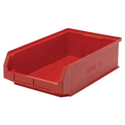 """19-3/4""""L x 12-3/8""""W x 5-7/8""""H Red Quantum® Magnum Storage Bin"""