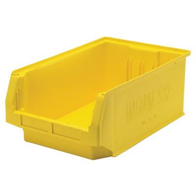 """19-3/4""""L x 12-3/8""""W x 7-7/8""""H Yellow Quantum® Magnum Storage Bin"""