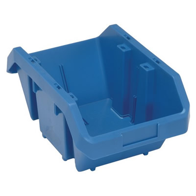 "14""L x 9-1/4""W x 6-1/2""H Blue QuickPick Double Sided Bin"