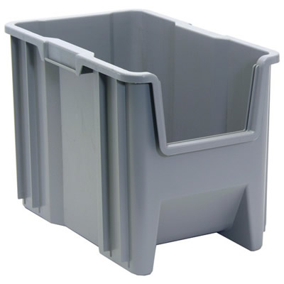 """17-1/2"""" L x 10-7/8"""" W x 12-1/2"""" Hgt. Gray Quantum® Giant Stack Container"""