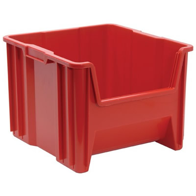 """17-1/2"""" L x 16-1/2"""" W x 12-1/2"""" Hgt. Red Quantum® Giant Stack Container"""