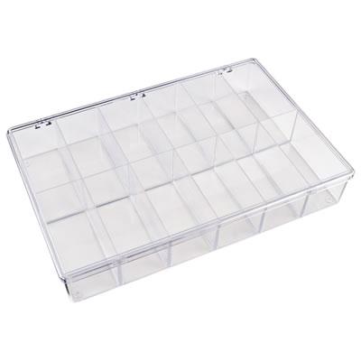 "K-Series™ Styrene 12 Compartment Box - 13-1/8"" L x 9"" W x 2-5/16"" Hgt."