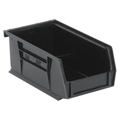 "Black Quantum® Ultra Series Stack & Hang Bin - 7-3/8"" L x 4-1/8"" W x 3"" Hgt."