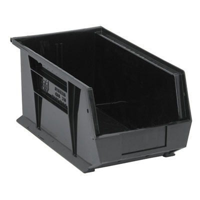 "Black Quantum® Ultra Series Stack & Hang Bin - 14-3/4"" L x 8-1/4"" W x 7"" Hgt."