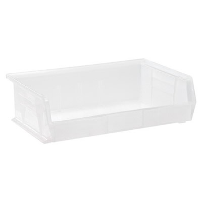 "10-7/8"" L x 16-1/2"" W x 5"" Hgt. Quantum® Clear-View Ultra Series Stack & Hang Bin"